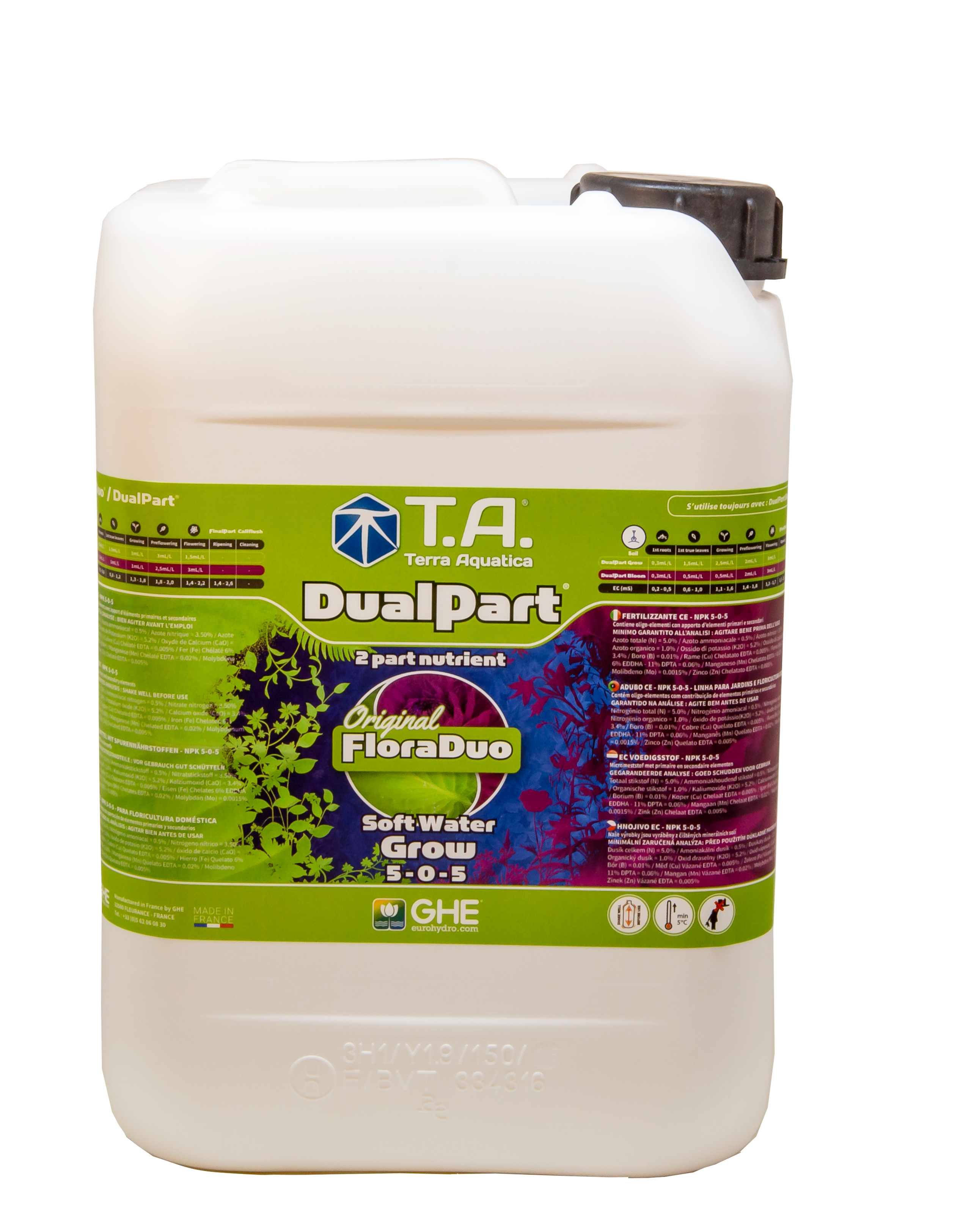 T.A. DualPart Grow Soft Water (FloraDuo) 60L