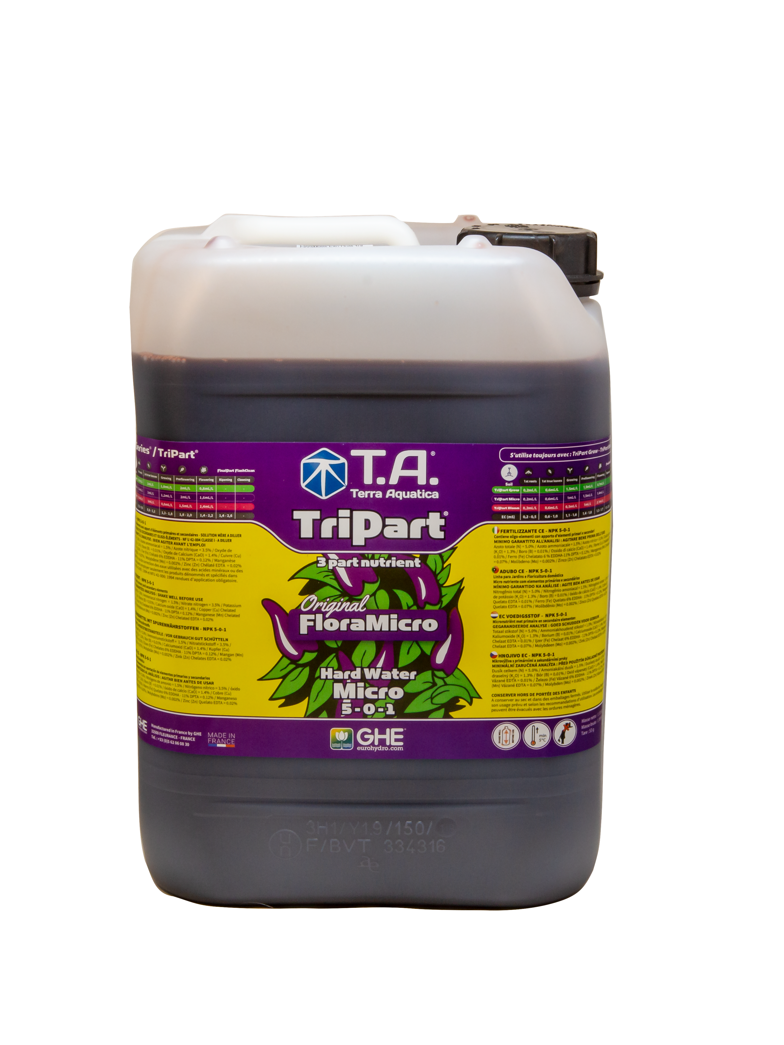 T.A. TriPart Micro (FloraMicro) Hard Water 10L