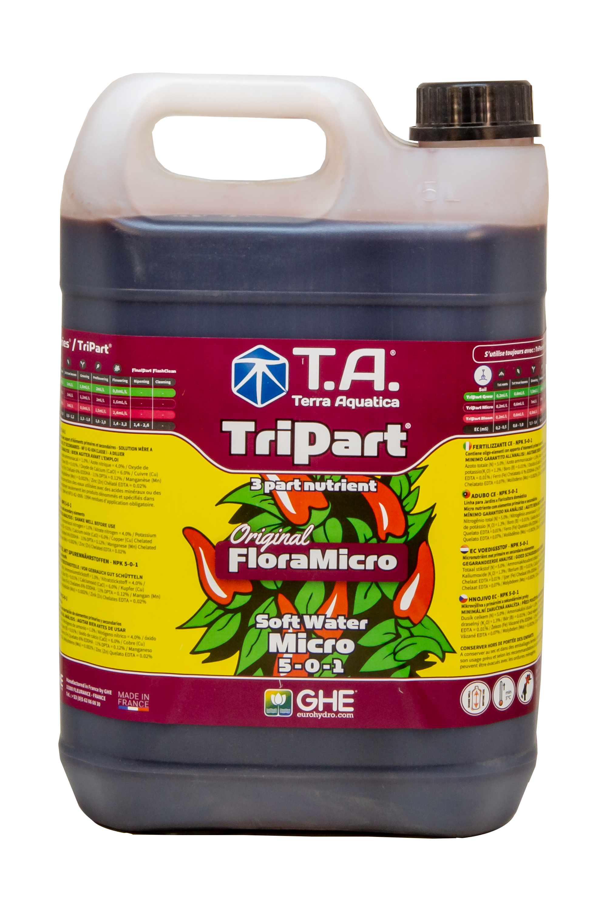 T.A. TriPart Micro (FloraMicro) Soft Water 5L
